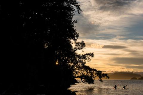 Sunset kayak tour, Parks Canada, Pender Island Kayak Adventures