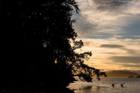 Sunset kayak tour, Parks Canada, Pender Island Kayak Adventures
