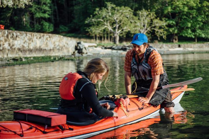 kayak instruction by pender island kayak adventures